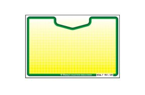 PRICE CARDS 104mm X 69mm (N.4 YELLOW-GREEN)